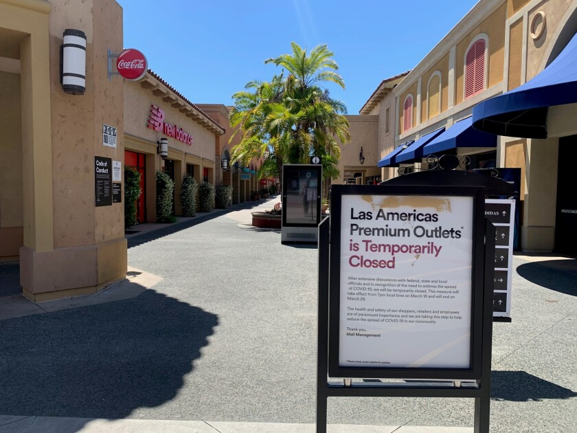 The majority of shops along Las Americas Premium Outlets have been closed since March. Even May 21 as stores were allowed to have customer inside, most of the mall was vacant.