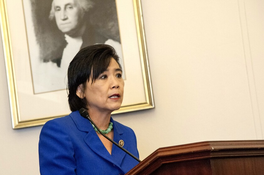 Representative Judy Chu (D-Calif.) speaks during a briefing on July 23, 2015 in Washington, DC.
