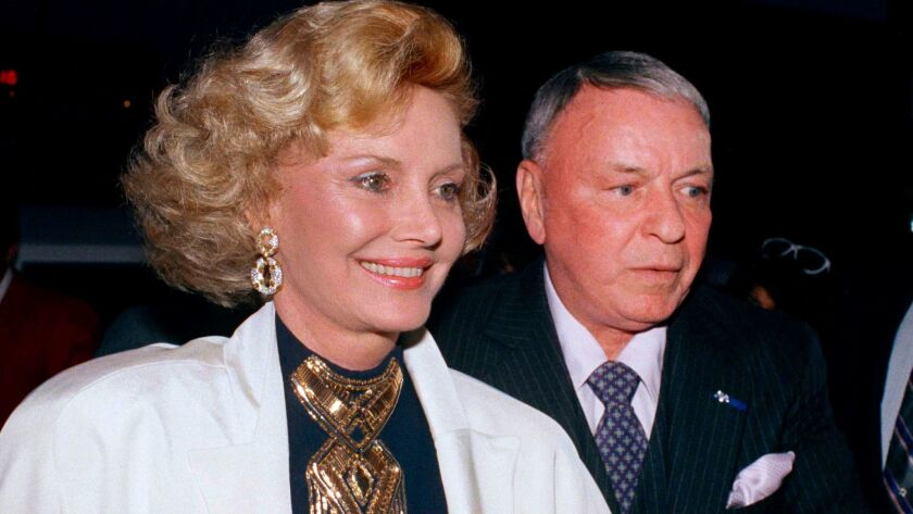 Barbara and Frank Sinatra in 1988 at Milton Berle's 80th birthday party in Los Angeles. Barbara Sinatra, a prominent philanthropist and advocate for abused children, died Tuesday at her Rancho Mirage home. She was 90.