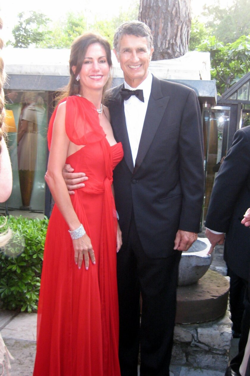 Charles and current wife Tanya Brandes at the 2008 Cannes Film Festival
