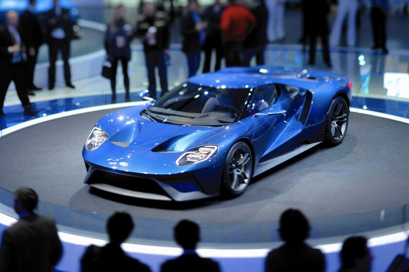 Ford's GT supercar unveiled at North American International Auto Show