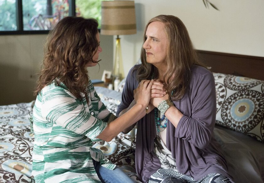 "Amy Landecker and Jeffrey Tambor in ""Transparent."""