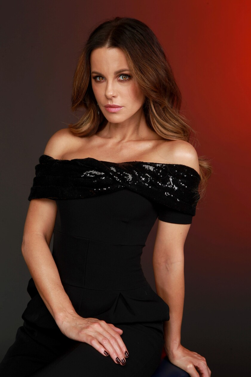 Kate Beckinsale is photographed at the Los Angeles Times studio for an Emmy Contender chat series.