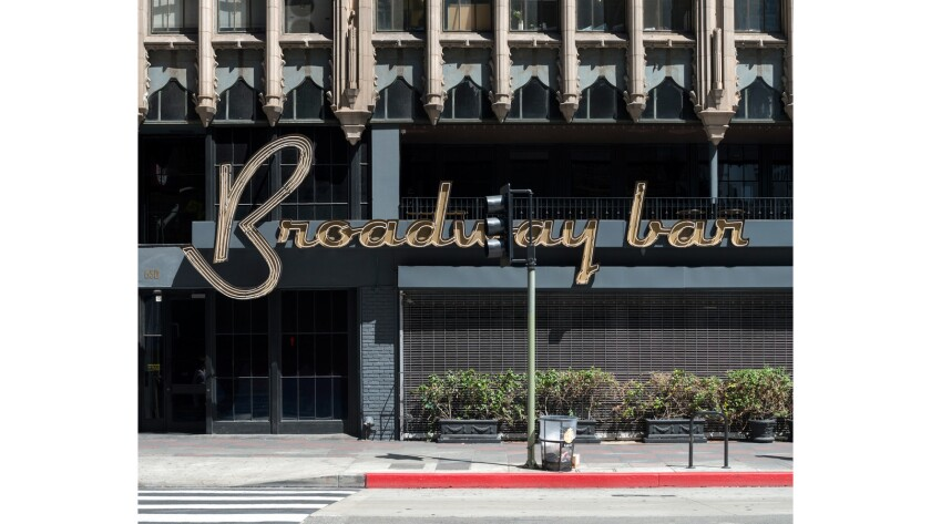 """Broadway Bar, DTLA,"" 2015, by John Humble — on view at Craig Krull in Santa Monica."