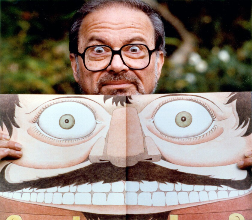 Author and illustrator Maurice Sendak with a self-portrait