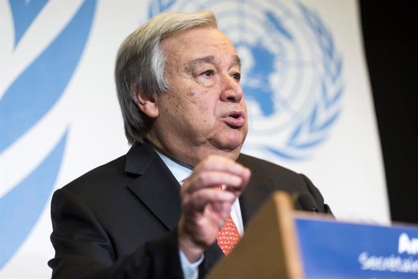 United Nations Secretary General Antonio Guterres. EFE/EPA/FILE