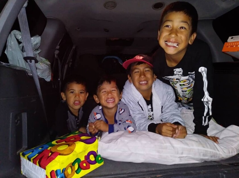 From left to right: Zuriel Valdivia, Enzi Valdivia, Zeth Valdivia and Ezekiel Valdivia