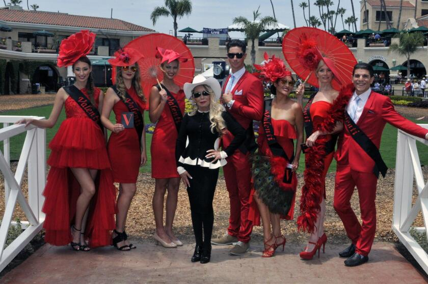 Opening Day at the Del Mar Thoroughbred Club Title Sponsor Irene Valenti and her team