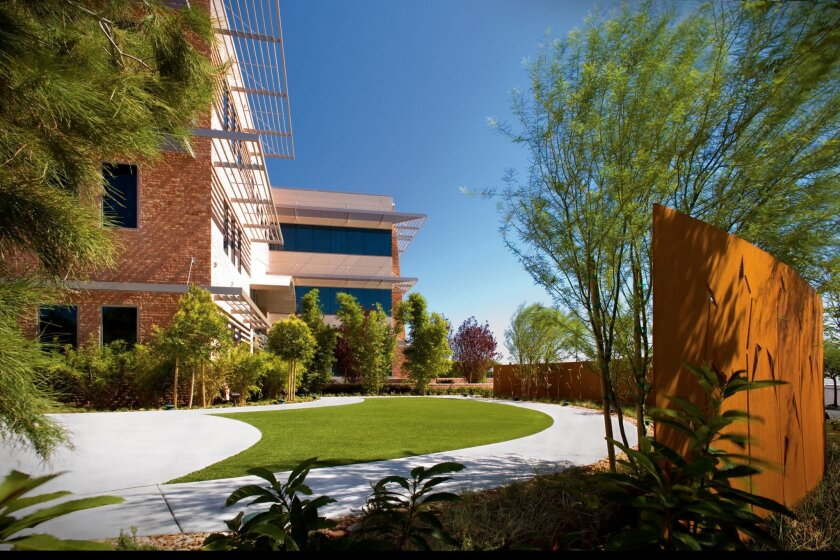 A healing garden oustide the Nevada Cancer Institute in Las Vegas.
