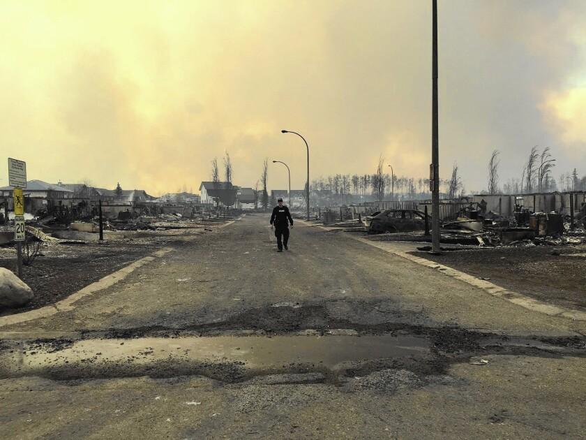 Fort McMurray fire devastation