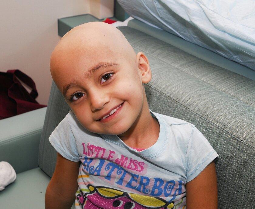 Julia Garmo in her room at Rady Children's Hospital in San Diego.