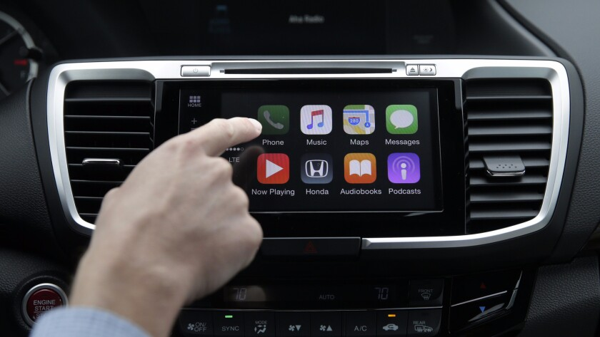 """Apple's CarPlay entertainment and communications system, installed in a lowly Honda: Is this the future of the """"Apple Car""""?"""