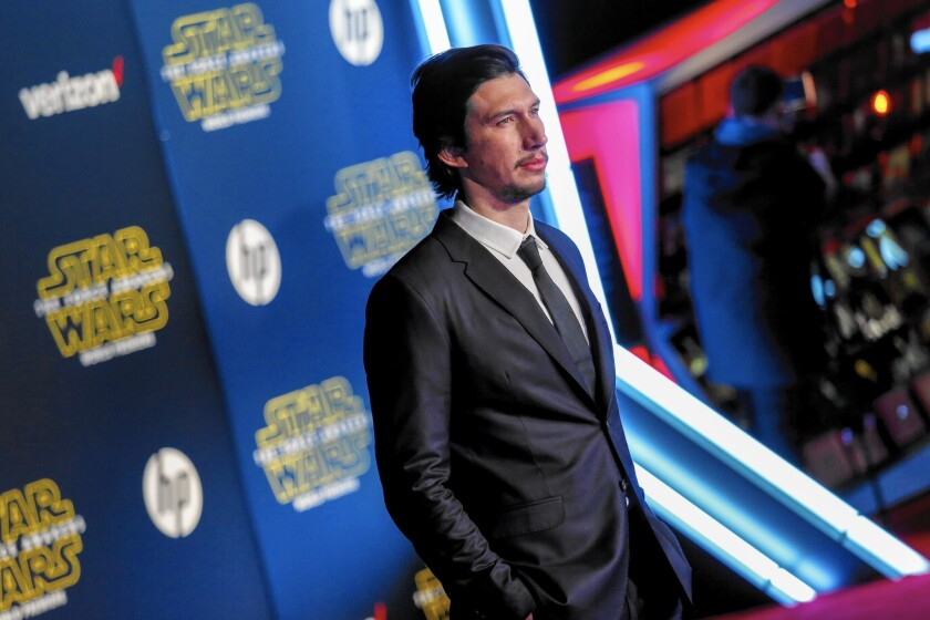 """Adam Driver, who plays Kylo Ren, at the red-carpet premiere of """"Star Wars: The Force Awakens"""" in Hollywood on Dec. 14, 2015."""