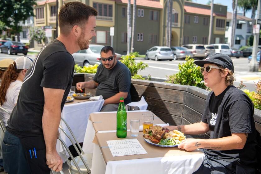 Ellie's restaurant patio