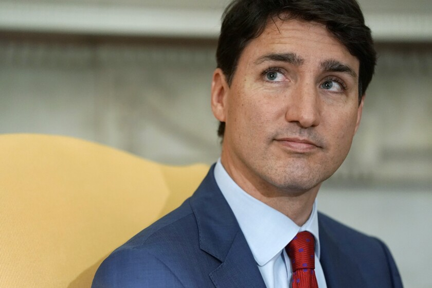 Canadian Prime Minister Justin Trudeau at the White House