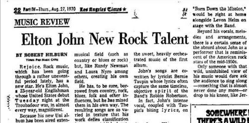Elton John review