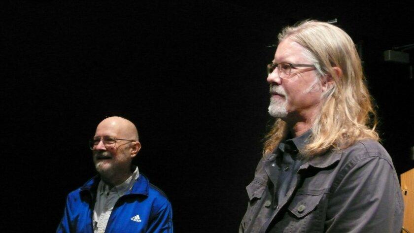 Sci-fi writer Vernon Vinge and Arthur C. Clarke Center director Sheldon Brown