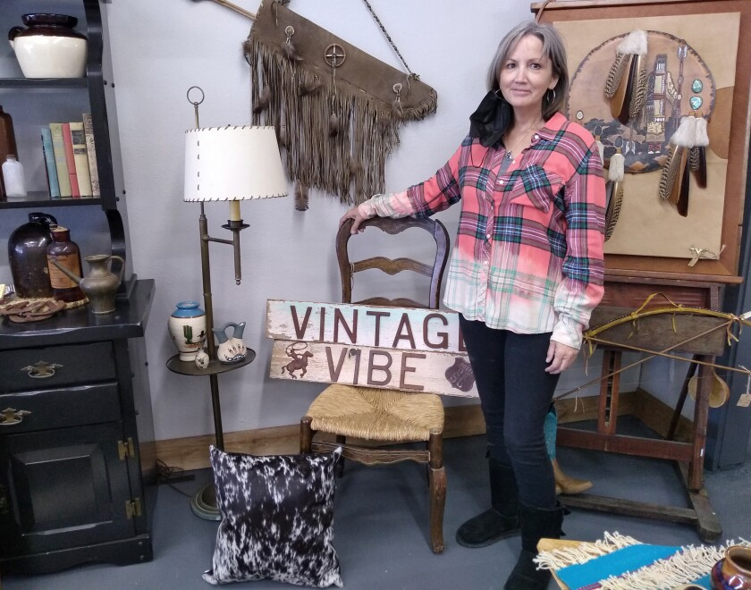 Diana Taylor and her husband Brian Taylor opened their new Vintage Vibe store last weekend.