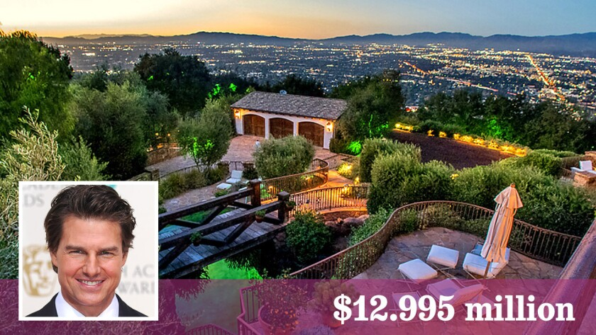 A Hollywood Hills West compound owned by Tom Cruise has come on the Multiple Listing Service at $12.995 million.