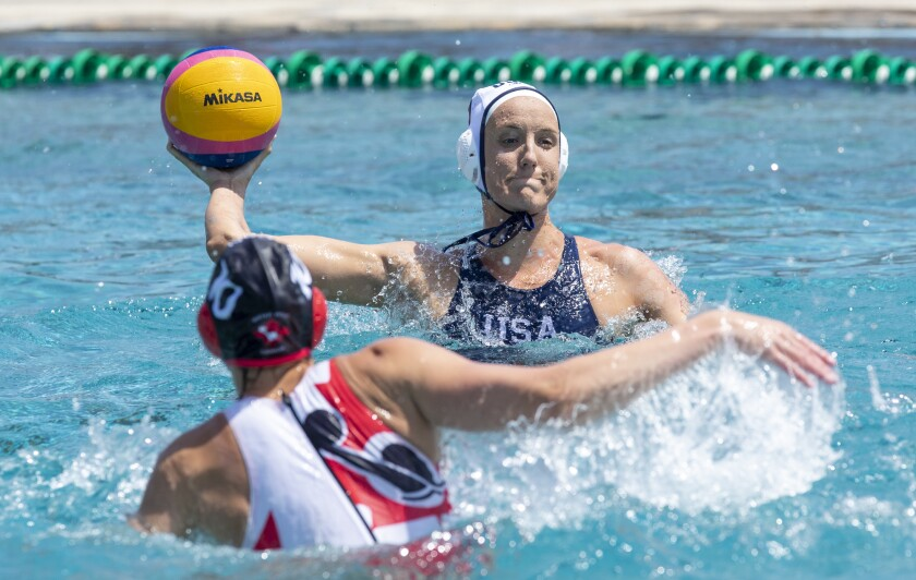 Makenzie Fischer scored three goals for Team USA on Tuesday in an Olympic quarterfinal victory.
