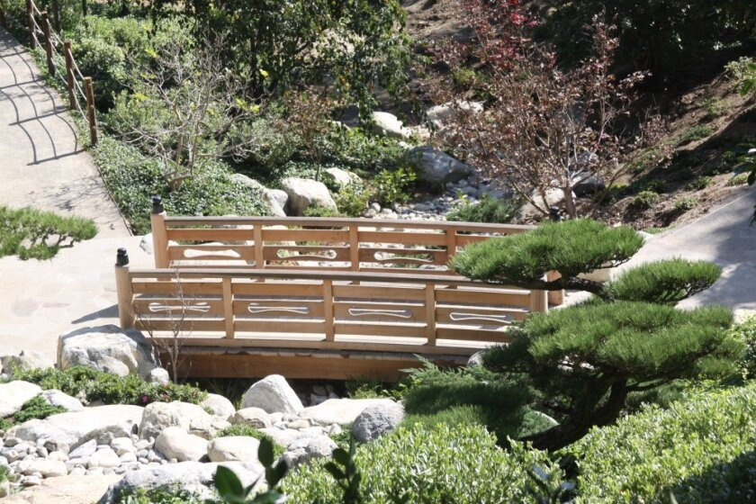 A new bridge that part of the Japanese Friendship Garden's 9-acre expansion, set for completion by 2015. Photo: Balboa Park Online Collaborative