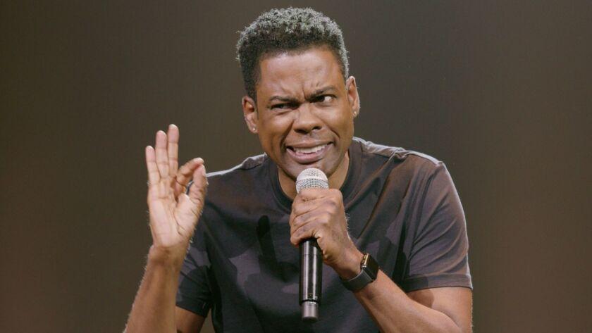 "Chris Rock in ""Chris Rock: Tamborine."" Emmy and Grammy award-winning comedian Chris Rock, who redefi"