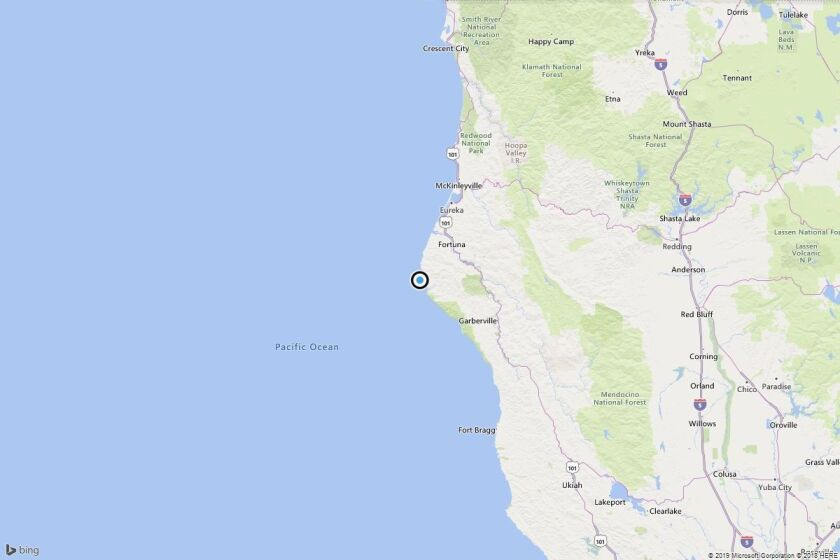 Earthquake: 3.5 quake strikes near Petrolia, Calif.