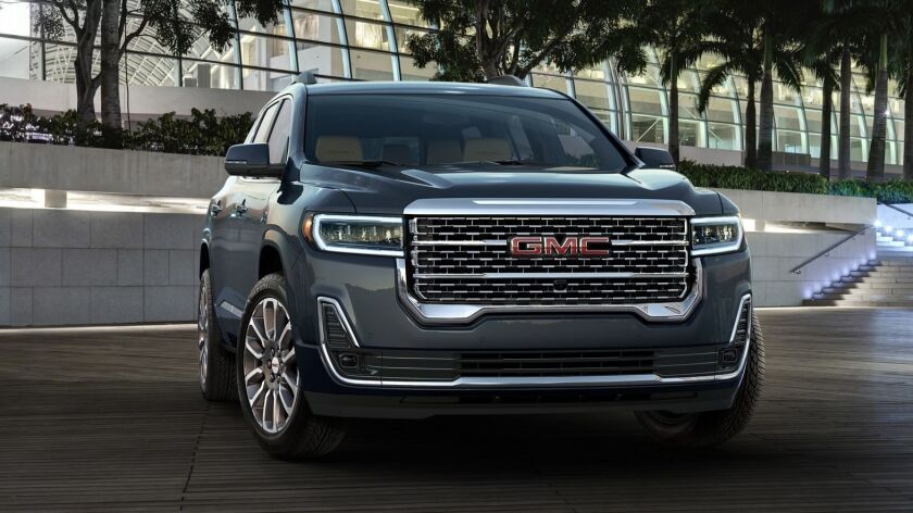 The Acadia was last redesigned for the 2017 model year, when GM shortened it by about 7 inches to fit better within the company's lineup of crossovers.