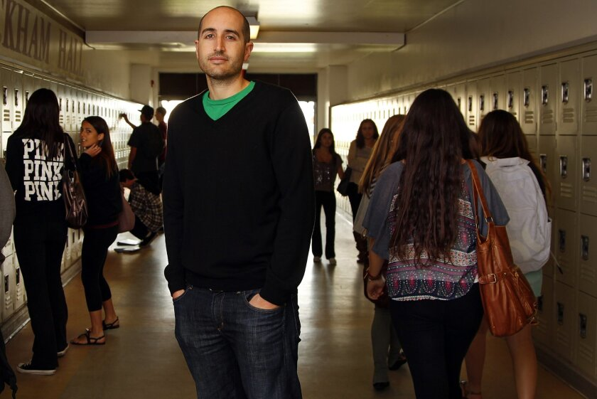 Justin Halpern, during a recent return to his alma mater, Point Loma High School