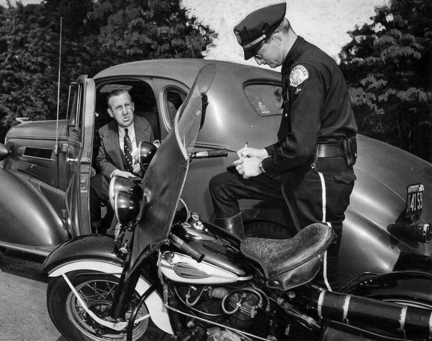 April 1, 1944: Sanford White, an automotive dealer, gets a speeding ticket from Officer H.L. Brown.