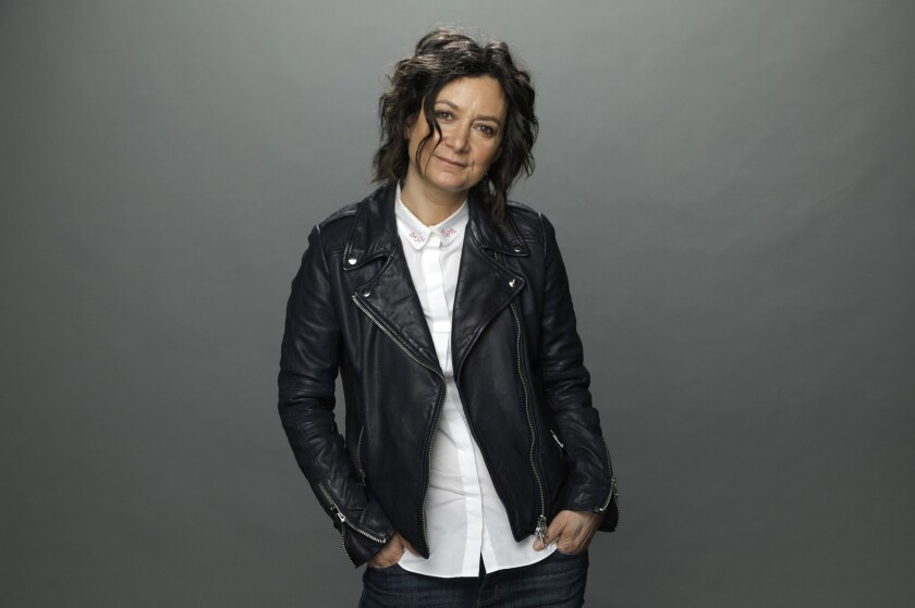 """Sara Gilbert of """"The Conners"""" is photographed at the Los Angeles Times studio for an Emmy Contender"""