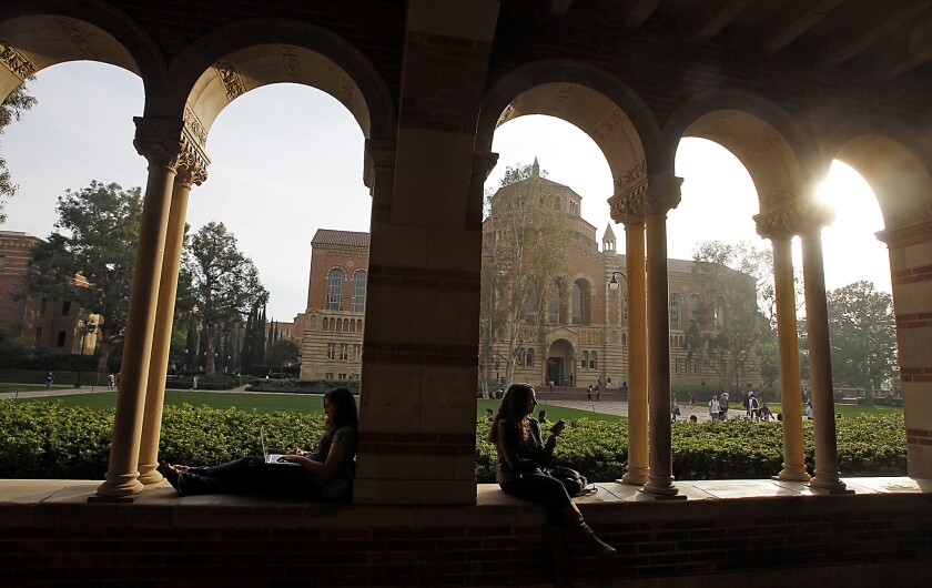 The UC system Gov. Brown outlines could change the very nature of the state's premier public universities, turning them into workmanlike producers of academic degrees. Above: UCLA in Westwood.