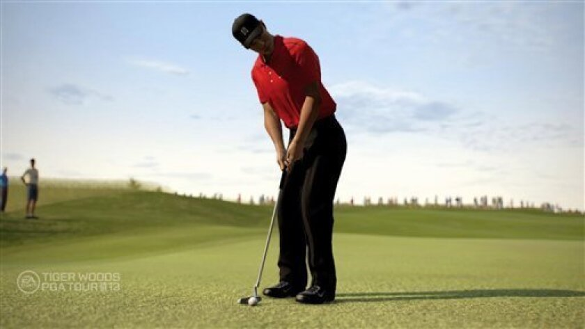 "In this video game image released by EA Sports, a scene is shown from ""Tiger Woods PGA Tour 13."" (AP Photo/EA Sports)"