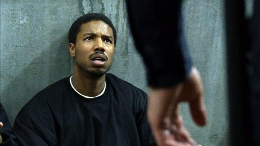 "Actor Michael B. Jordan shown in a scene from ""Fruitvale Station."""