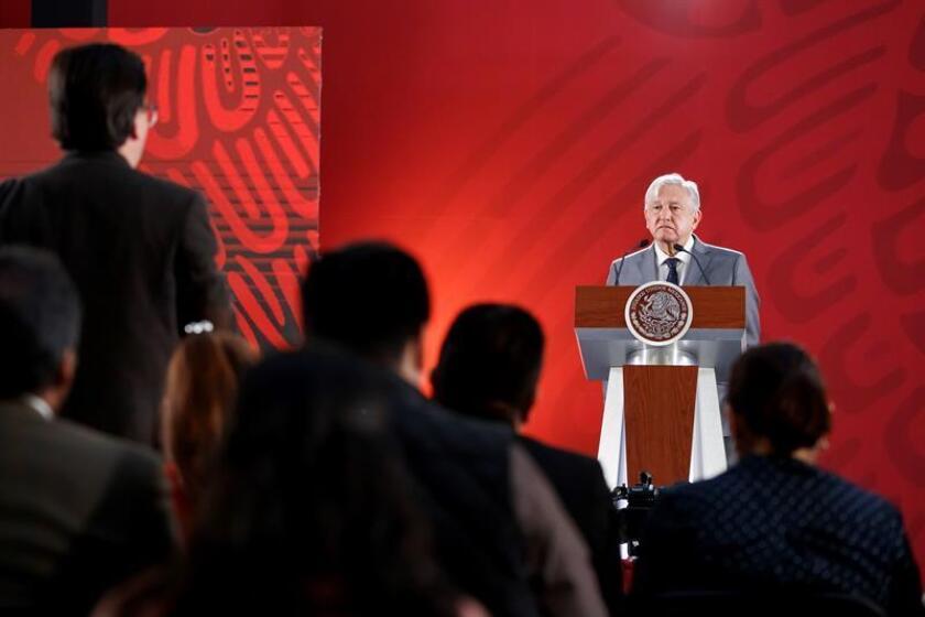 El presidente de México, Andrés Manuel López Obrador, participa en una rueda de prensa en el Palacio Nacional de Ciudad de México (México). EFE/Archivo