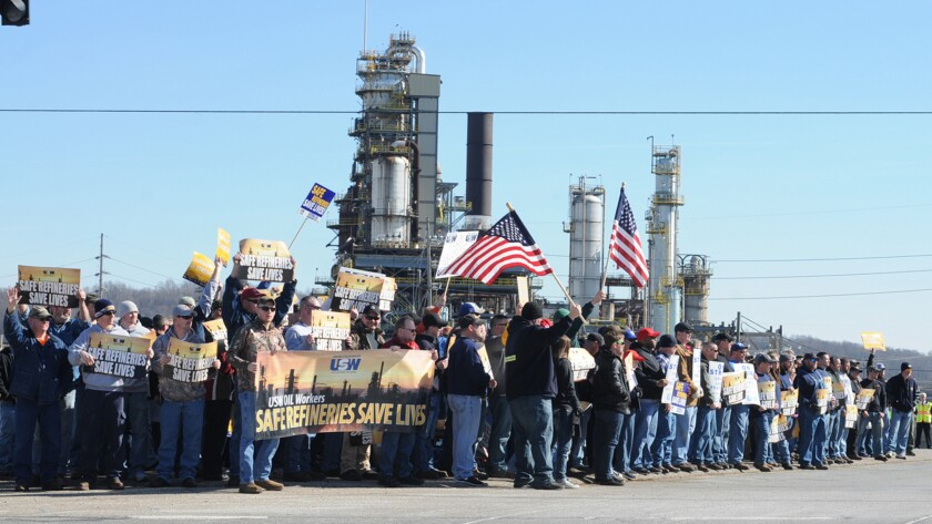 Refinery strike expands to 15 plants
