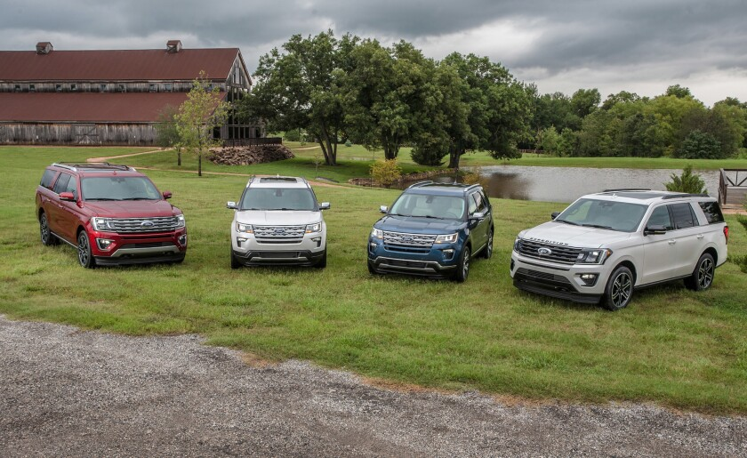 Ford unveils four 2019 special-edition SUVs available nationally – Explorer Limited Luxury and Desert Copper Editions as well as Expedition Stealth and Texas Editions