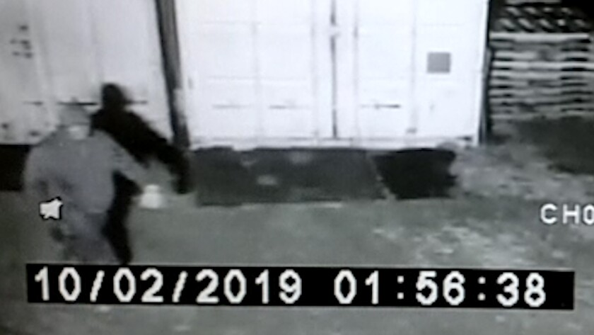 A still shot caught on video of the suspected thief who took a 12-foot, 300-plus-pound wrought iron horse earlier this month from the front of Double S Tack and Feed Store on Olde Highway 80 in unincorporated El Cajon.