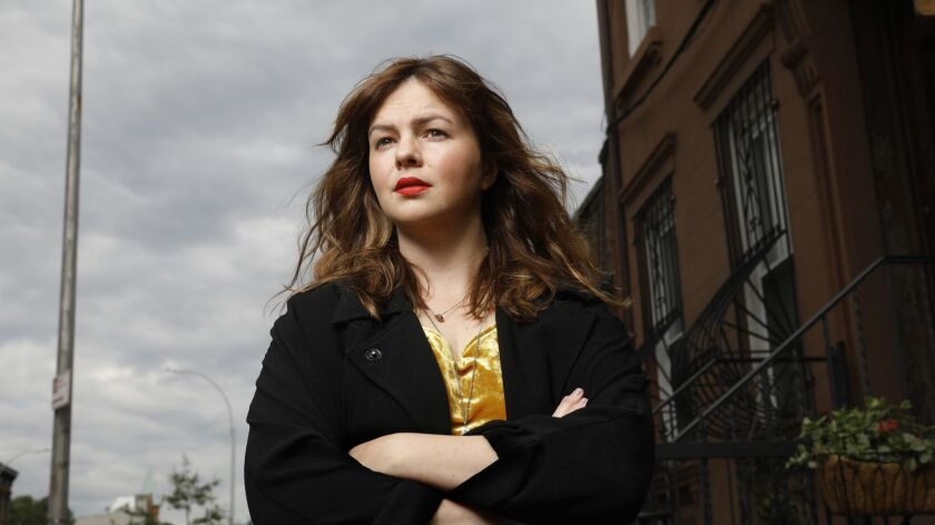 "BROOKLYN, NEW YORK--JUNE 6, 2018-- Actress Amber Tamblyn has written her first novel, ""Any Man,"" whi"