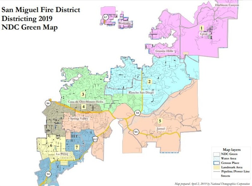 San Miguel fire district is without a candidate for this November's election in Division 6, the La Presa/Spring Valley area.