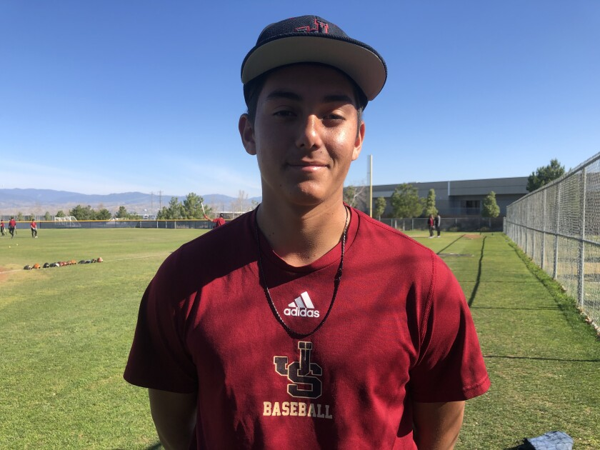 JSerra pitcher Gage Jump struck out seven in three innings against Palm Desert.