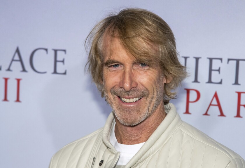 """FILE - In this March 8, 2020 file photo, Michael Bay attends the world premiere of """"A Quiet Place Part II"""" in New York. The union that represents film actors is telling its members not to work on the pandemic thriller """"Songbird,"""" one of the first films in production after coronavirus closures. The Screen Actors Guild-American Federation of Television and Radio Actors issued a do not work order Thursday, saying the filmmakers have not been transparent about safety protocols and had not signed the proper agreements with the union. The movie, produced by Michael Bay and directed by Adam Mason, had reportedly been preparing its actors remotely under locked down conditions for the shoot. (Photo by Charles Sykes/Invision/AP, File)"""
