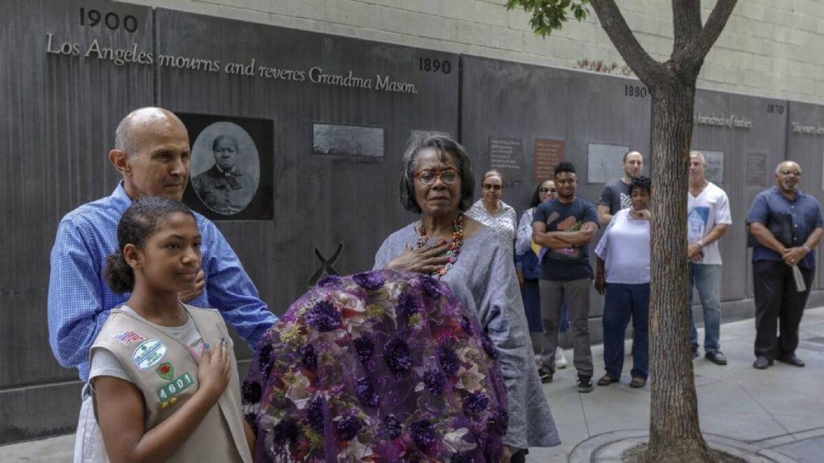 Honoring The Legacy And 200th Birthday Of Slave Turned Entrepreneur Biddy Mason Los Angeles Times
