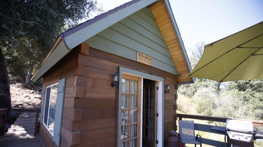 Plans to reduce or eliminated developer fees in Vista could make tiny homes like this one, photographed in 2016 off Old Highway 80 in the Cuyamaca Mountains community of Guatay, more affordable for home owners.