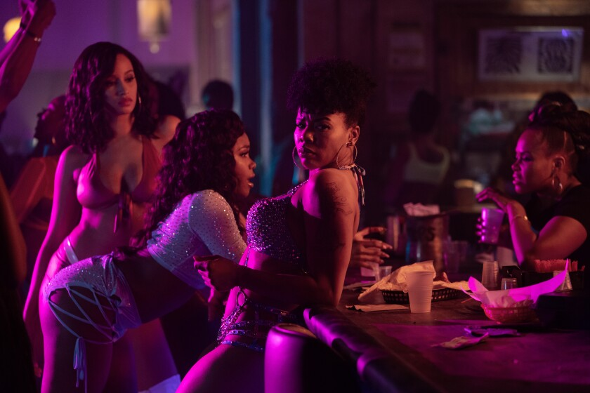 """""""P-Valley,"""" premiering Sunday on Starz, peers inside a Southern strip club."""