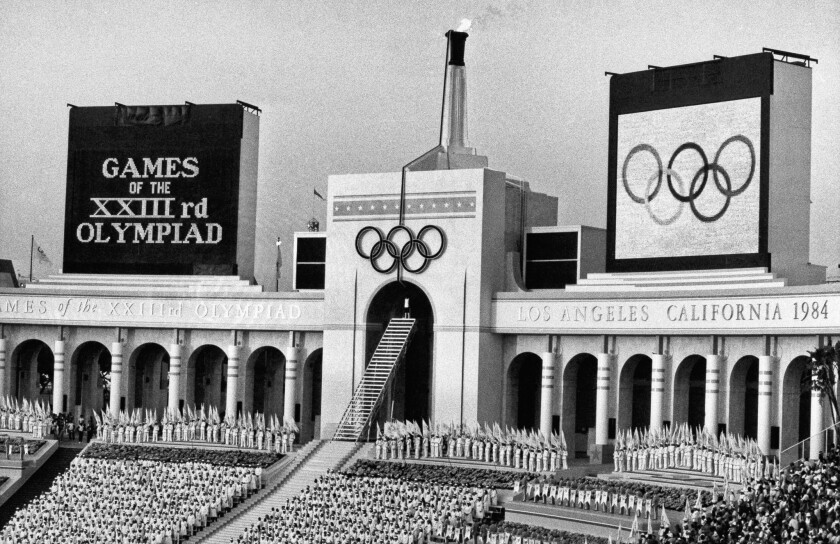 Los Angeles last hosted the Olympics in 1984.