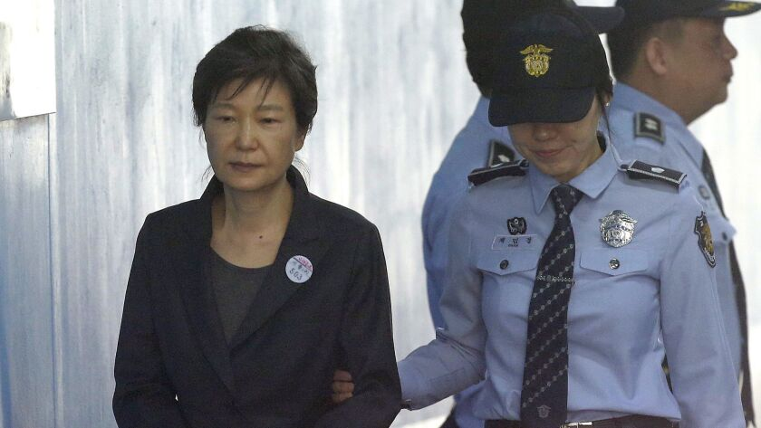 Prosecutors have demanded a 30-year prison term for Park Geun-hye, who was charged with bribery, abuse of power and other crimes in a landmark corruption case that marked a stunning fall from grace for South Korea's first female leader.