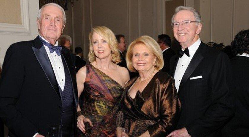 Harvey and Sheryl White, Joan and Irwin Jacobs (Photo: Jon Clark)