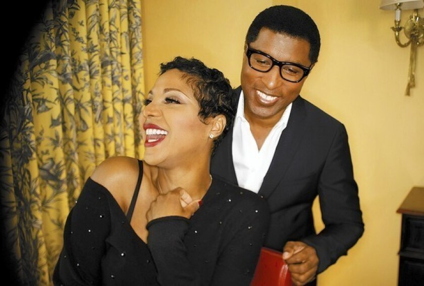 """Toni Braxton and Kenny """"Babyface"""" Edmonds in Westlake Village, Calif., before they release their duet album, """"Love, Marriage and Divorce."""""""