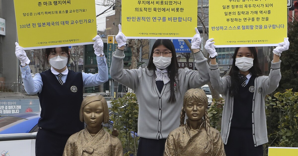 Harvard professor claims WWII 'comfort women' in Japan were not sex slaves, igniting uproar